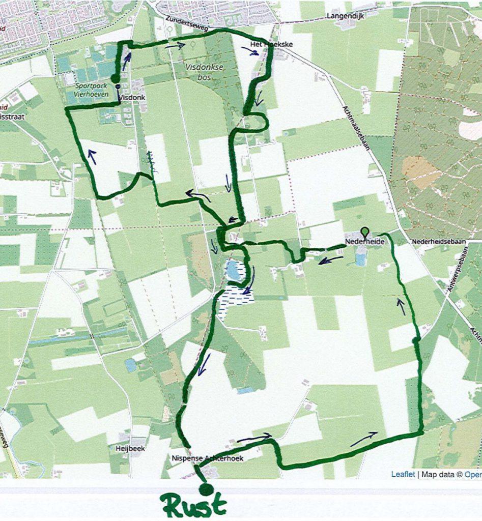 Wandeltocht 15 km. Landgoedloop 2019