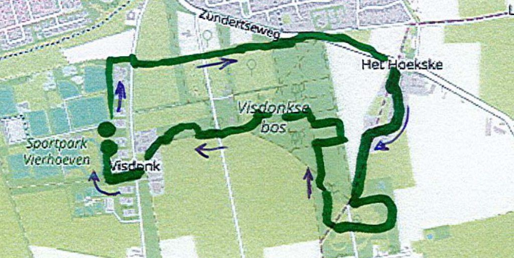 Wandelroute Visdonk 6 km